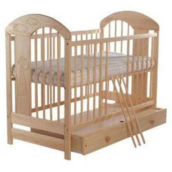 Łóżeczko dziecięce 120x60 zbyszek żyrafa i orzech marki Wujec