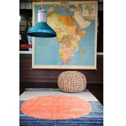 Storebror  dywan pomarańczowy okrąg ibt0002