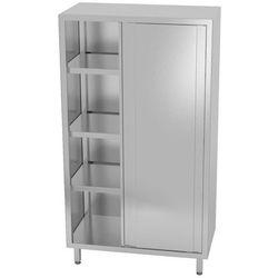 Polgast Szafa nierdzewna magazynowa drzwi suw. 100x50x180