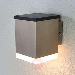 Lampenwelt.com Kinkiet zewnętrzny solarny tyson, kątowy, satynowy