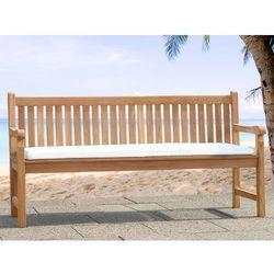 Wygodna poduszka do ławki 180 cm - poducha 169x50x5cm - beżowa - produkt z kategorii- Pozostałe meble ogrodowe