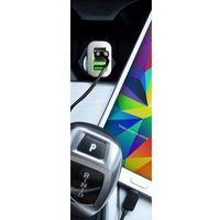 PURO Mini Car Fast Charger - Ładowarka samochodowa 3 x USB 5.1A (biały) - Biały (8033830142710)