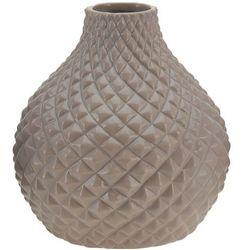 Ceramiczny wazon na kwiaty, dekoracje - okrągły Ø 18 cm, B01N2URSN0