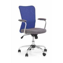 Halmar Fotel młodzieżowy obrotowy andy niebieski