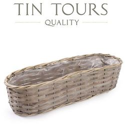 Tin tours sp.z o.o. Owalna balkonówka wiklinowa 47x15x10,5 cm