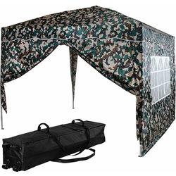 Ekspresowy pawilon namiot ogrodowy 3x3 kolor leśny + 2 ścianki marki Instent ®