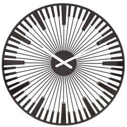 Koziol Zegar ścienny piano czarny
