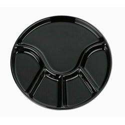 Kela Fondue talerz ANNELI 23 cm, czarny