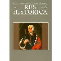 Res Historica tom 27, praca zbiorowa