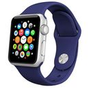 GRANATOWY Sportowy silikonowy pasek do Apple Watch 42mm - Granatowy, kolor niebieski