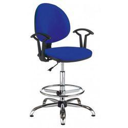 Krzesło specjalistyczne SMART gtp27 steel02 + ring base chrome - obrotowe, SMART GTP27 steel02 RING BASE chrome