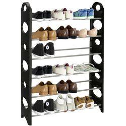 Springos Regał na buty z metalowymi 6 półkami szafka czarno-szara (5907719420318)