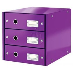 Leitz Pojemnik click&store z 3 szufladami fioletowy 60480062 (4002432103935)