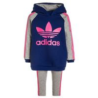 adidas Originals SET Bluza z kapturem mystery ink/medium grey heather/solar pink, DTI48