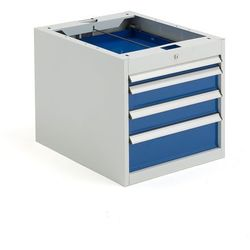 Szafka narzędziowa solid, do stołu roboczego, 4 szuflady, 540x520x665 mm marki Aj produkty
