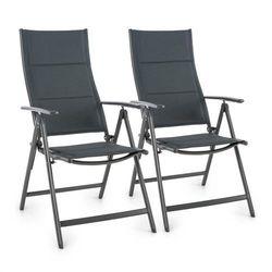 stylo noble grey krzesło ogrodowe składane aluminiowe szare 2 sztuki od producenta Blumfeldt