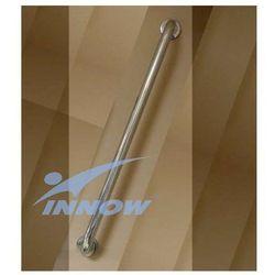 Innow Uchwyt łazienkowy ścienny prosty z krytym mocowaniem 45 cm inox gkn 101a