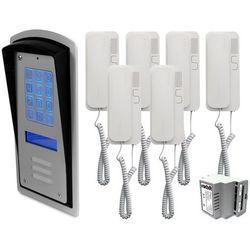 Zestaw 6-rodzinny panel domofonowy wielorodzinny z szyfratorem brc10 mod marki Radbit