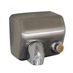 Elektryczna suszarka do rąk starflow z przyciskiem - obudowa metalowa, stal matowa, marki Merida