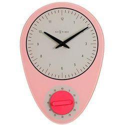 Zegar ścienny hans różowy marki Nextime