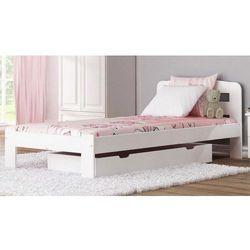 Łóżko drewniane sara 90x200 białe z materacem piankowym marki Meble magnat