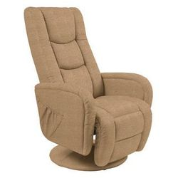 Fotel Pulsar 2 beżowy z funkcją masażu kolor beżowy, kolor beżowy