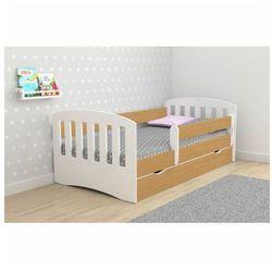 Łóżko dla dziecka z szufladą pinokio 2x 80x140 - buk marki Producent: elior
