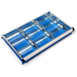 Zestaw przegród do szuflad, szer. szafy x głęb. 700x450 mm, wys. 75 mm, 9 półek.