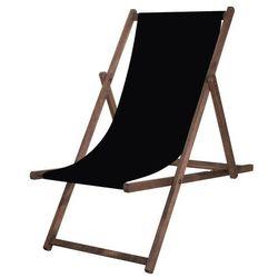 Leżak drewniany impregnowany z materiałem czarnym