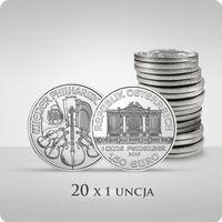 Wiedeńscy filharmonicy 1 uncja srebra x 20 marki Münze Österreich