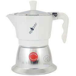 Kawiarka na indukcję Top Moka TOP 3 filiżanki - srebrno biała