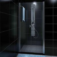 vidaXL Drzwi pod prysznic, szklane (80 cm)