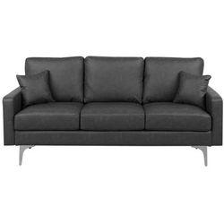 Sofa trzyosobowa skóra ekologiczna ciemnoszara gavle marki Beliani