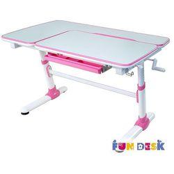 Fundesk Invito pink - ergonomiczne, regulowane biurko dziecięce