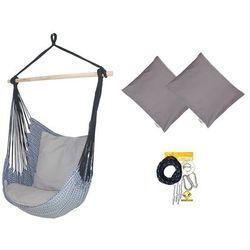 Fotel hamakowy z poduszkami i zestawem montażowym, Granatowy Etno + HP-111 + koala/fix/ch1