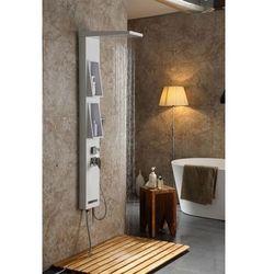Panel prysznicowy z półkami, kolor biały z słuchawką tana marki Metal-hurt