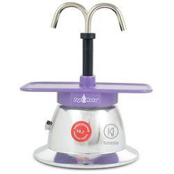 Kawiarka Top Moka Mini 2 filiżanki - srebrno fioletowa indukcja