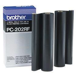 Brother 2 x folia termotransferowa Black PC-202RF, PC202RF z kategorii Eksploatacja telefaksów