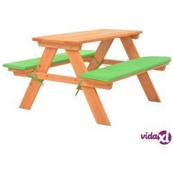 Vidaxl dziecięcy stolik piknikowy z ławkami, 89x79x50 cm, lita jodła