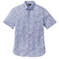 Koszula z krótkim rękawem regular fit  niebieski chagall - biały wzorzysty marki Bonprix