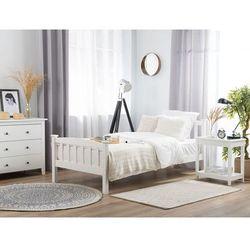 Łóżko drewniane 90 x 200 cm białe GIVERNY, kolor biały