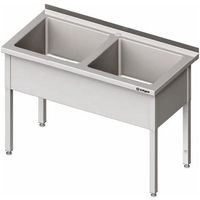 Stół z basenem dwukomorowym 1600x700x850 mm | STALGAST, 981397160