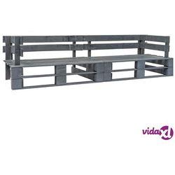 Vidaxl sofa ogrodowa z palet, 2 osobowa, szare drewno fsc (8719883590936)