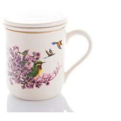 Mieroszów Kubek z sitkiem zaparzacz magnolia ptak