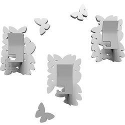 Wieszaki ścienne dekoracyjne Butterflies CalleaDesign białe