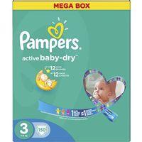 PAMPERS Active Baby pieluchy 3 Midi 150szt pieluszki Mega Box karton, kup u jednego z partnerów