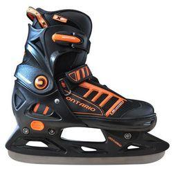 Łyżwy hokejowe regulowane  a2959 ontario (rozmiar 33 - 36) od producenta Axer sport