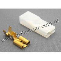 Konektor żeński 6,3 mm + osłona KPL 5szt