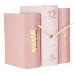 Karlsson:: Zegar Book różowy - różowy, kolor różowy