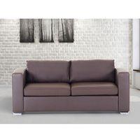 Beliani Skórzana sofa trzyosobowa brązowa - kanapa - helsinki (7081458063451)